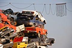 σωρός αυτοκινήτων χρησιμ&omi Στοκ φωτογραφία με δικαίωμα ελεύθερης χρήσης