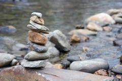 Σωρός βράχου της Zen Στοκ Εικόνες