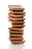 σωρός γάλακτος σοκολάτας ομάδων δεδομένων Στοκ εικόνες με δικαίωμα ελεύθερης χρήσης