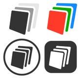 Σωρός, εικονίδιο φύλλων του εγγράφου/σύνολο συμβόλων ελεύθερη απεικόνιση δικαιώματος