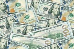 Σωρός εκατό δολαρίων, forfinancial conce υποβάθρου χρημάτων Στοκ Φωτογραφία