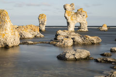 Σωρός θάλασσας σε FÃ¥rö, Gotland στη Σουηδία Στοκ φωτογραφία με δικαίωμα ελεύθερης χρήσης