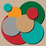 Σωρός κύκλων με τη μαύρη σκιά διανυσματική απεικόνιση