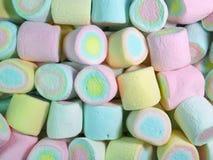 Σωρός κλειστά επάνω χρωματισμένα κρητιδογραφία Marshmallows Στοκ φωτογραφίες με δικαίωμα ελεύθερης χρήσης