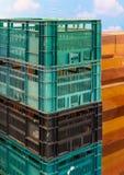 Σωρός κλουβιών Pastic Στοκ εικόνες με δικαίωμα ελεύθερης χρήσης
