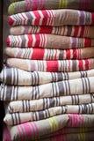 Σωρός μαξιλαριών καρεκλών λινού Στοκ φωτογραφία με δικαίωμα ελεύθερης χρήσης