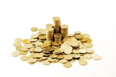 Σωρός νομισμάτων χρημάτων της Ταϊλάνδης Στοκ εικόνες με δικαίωμα ελεύθερης χρήσης