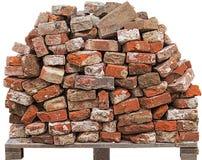 σωρός δομικού υλικού κτηρίου τούβλων Στοκ Εικόνες