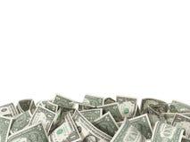 Σωρός 1 δολαρίου Bill στο άσπρο υπόβαθρο Στοκ Φωτογραφία