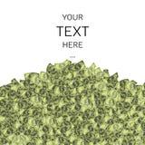 Σωρός δολαρίων με το κείμενο δείγμα Απεικόνιση αποθεμάτων