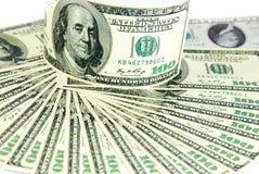 Σωρός δολαρίων ως υπόβαθρο στοκ εικόνες