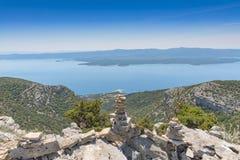 Σωρός πετρών άποψης gora vidova της Κροατίας Brac Στοκ φωτογραφία με δικαίωμα ελεύθερης χρήσης