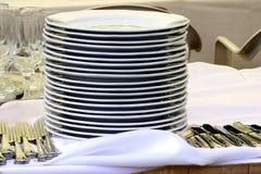 σωρός πιάτων Στοκ εικόνες με δικαίωμα ελεύθερης χρήσης