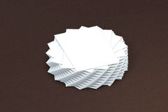 Σωρός πολλών καρτών του προτύπου εγγράφου στην παρουσίαση Στοκ Εικόνες