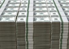 Σωρός σημειώσεων αμερικανικών δολαρίων Στοκ φωτογραφία με δικαίωμα ελεύθερης χρήσης