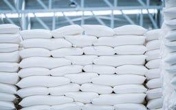 Σωρός της άσπρης τσάντας στοκ εικόνες