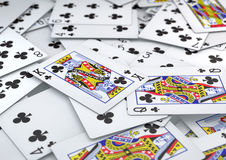 Σωρός της ακολουθίας λεσχών καρτών που βρίσκεται στον πίνακα Στοκ Φωτογραφία