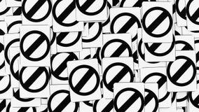 Σωρός της απαγόρευσης των σημαδιών οδών διανυσματική απεικόνιση