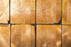 Σωρός της ξυλείας στην αποθήκευση κούτσουρων ξυλείας για την κατασκευή ή το indus Στοκ Εικόνες