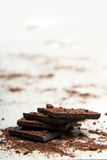 Σωρός της σκοτεινής σοκολάτας στοκ φωτογραφίες