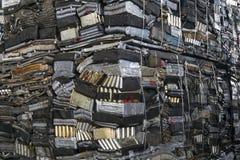 Σωρός του αργιλίου από τα μέρη αυτοκινήτων Στοκ Εικόνες