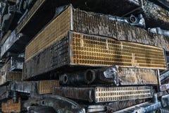 Σωρός του αργιλίου από τα μέρη αυτοκινήτων Στοκ φωτογραφία με δικαίωμα ελεύθερης χρήσης