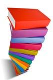 Σωρός του βιβλίου το διαφορετικό χρώμα που απομονώνεται με στο λευκό Στοκ Εικόνα