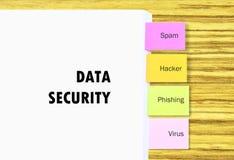 Σωρός του εγγράφου εγγράφων με τη ζωηρόχρωμη επικόλληση για την εύκολη αναφορά για τη ασφάλεια δεδομένων στην επιχειρησιακή έννοι Στοκ Εικόνα