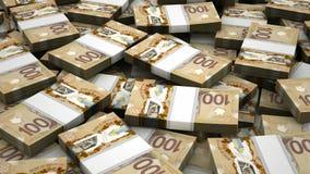 Σωρός του καναδικού δολαρίου ελεύθερη απεικόνιση δικαιώματος