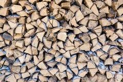 Σωρός του καυσόξυλου σημύδων Στοκ εικόνα με δικαίωμα ελεύθερης χρήσης