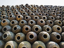 Σωρός του κινεζικού βάζου κρασιού στοκ φωτογραφία με δικαίωμα ελεύθερης χρήσης