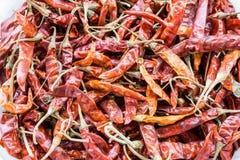 σωρός του ξηρού κόκκινου τσίλι στοκ φωτογραφίες με δικαίωμα ελεύθερης χρήσης