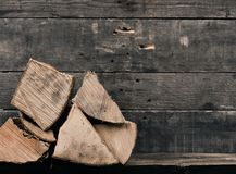 Σωρός του ξύλου πυρκαγιάς οξιών Στοκ Εικόνα