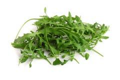 Σωρός του πράσινου φρέσκου φύλλου rucola ή arugula που απομονώνεται στο άσπρο υπόβαθρο Στοκ φωτογραφίες με δικαίωμα ελεύθερης χρήσης