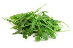 Σωρός του πράσινου φρέσκου φύλλου rucola ή arugula που απομονώνεται στο άσπρο υπόβαθρο Στοκ Φωτογραφίες