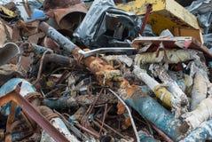 Σωρός του σκουριασμένου παλιοσίδερου Στοκ φωτογραφία με δικαίωμα ελεύθερης χρήσης