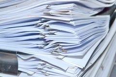 Σωρός του σωρού εγγράφων Στοκ εικόνες με δικαίωμα ελεύθερης χρήσης