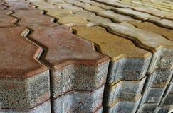 Σωρός του τούβλου τσιμέντου στοκ φωτογραφία