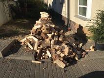 Σωρός του φρέσκου ξύλου περικοπών Στοκ Εικόνα
