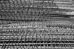 Σωρός του φραγμού χάλυβα για το υπόβαθρο κατασκευής Στοκ Εικόνα