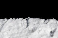 Σωρός του χιονιού που απομονώνεται στο Μαύρο Στοκ Φωτογραφία