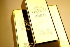 Σωρός του χρυσού φραγμού, περιβαλλοντική οικονομική έννοια Στοκ Εικόνες
