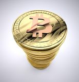 Σωρός του bitcoin Στοκ Φωτογραφίες
