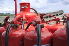 Σωρός του extiguisher πυρκαγιάς Στοκ φωτογραφίες με δικαίωμα ελεύθερης χρήσης