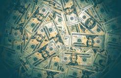 Σωρός των αμερικανικών δολαρίων Στοκ Εικόνα