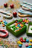 Σωρός των ανάμεικτων και χρωματισμένων καραμελών Στοκ εικόνα με δικαίωμα ελεύθερης χρήσης