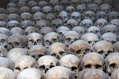 Σωρός των ανθρώπινων κρανίων, οστεοφυλάκιο του Μπρνο, Δημοκρατία της Τσεχίας Στοκ Εικόνα