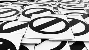 Σωρός των αρνητικών σημαδιών οδών Στοκ εικόνες με δικαίωμα ελεύθερης χρήσης