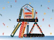 Σωρός των βιβλίων Αγγλικά εγχειρίδια Ξένη γλώσσα εκμάθησης Εκπαίδευση, σχολείο, μελέτη απεικόνιση αποθεμάτων