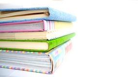 Σωρός των βιβλίων και των σημειωματάριων Στοκ Εικόνα